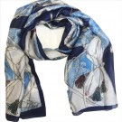 Sjal/scarf Lovely Blue Silk